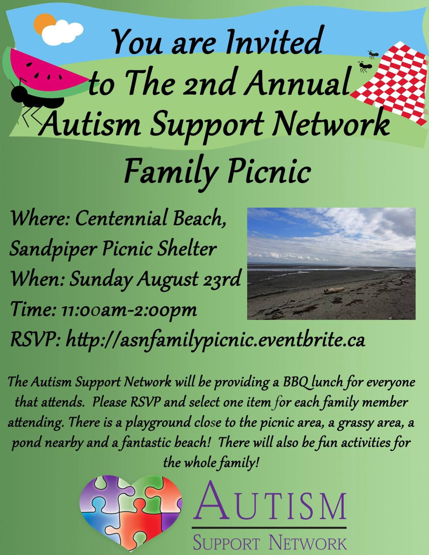 2nd Annual Autism Support Network Family Picnic – Autism Support